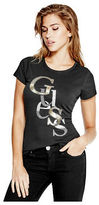 GUESS Women's Irisa Staggered Logo Tee