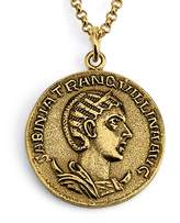 Azaggi Gold Plated Sterling Silver Handcrafted Augusta Sabinia Tranquillina Coin Pendant Neckalce