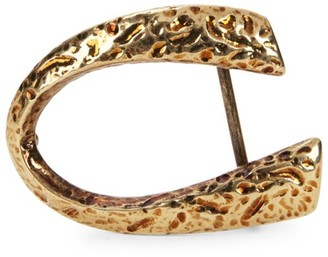 Corthay Hammered Goldtone Classic C Belt Buckle
