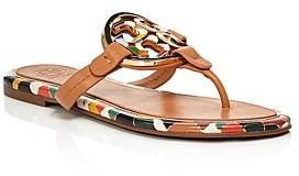 Tory Burch Women's Miller Enamel Thong Sandals