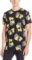 Neff Men's Steezy Bart Drop Tail T-Shirt