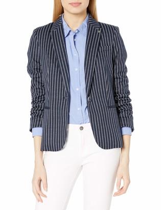 Tommy Hilfiger Women's One Button Stripe Blazer