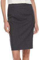 Elle Women's ELLETM Herringbone Pull-On Pencil Skirt