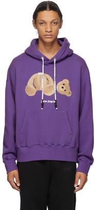 Palm Angels Purple Bear Hoodie