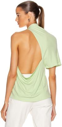 Rosetta Getty Asymmetrical Backless T Shirt in Lime | FWRD