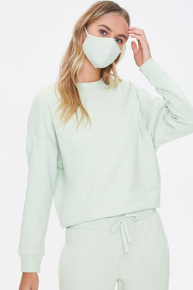 Forever 21 French Terry Sweatshirt Face Mask Set
