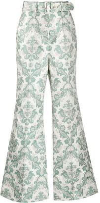 Zimmermann Ladybeetle brocade wool trousers
