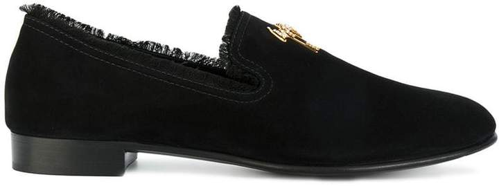 Giuseppe Zanotti Design Signature frayed slippers