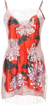 Fleur Du Mal lace appliqué slip dress
