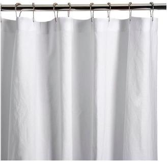 """Superior Custom Linens Natural Linen Shower Curtain, White, White, 72""""x100"""""""