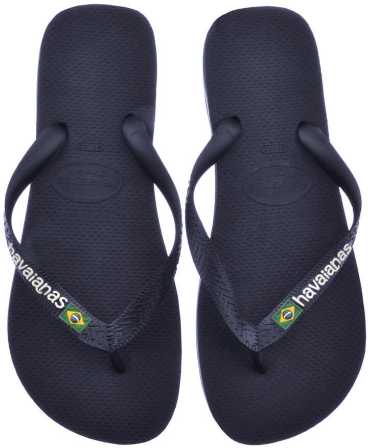 Havaianas Brazil Logo Flip Flops Navy