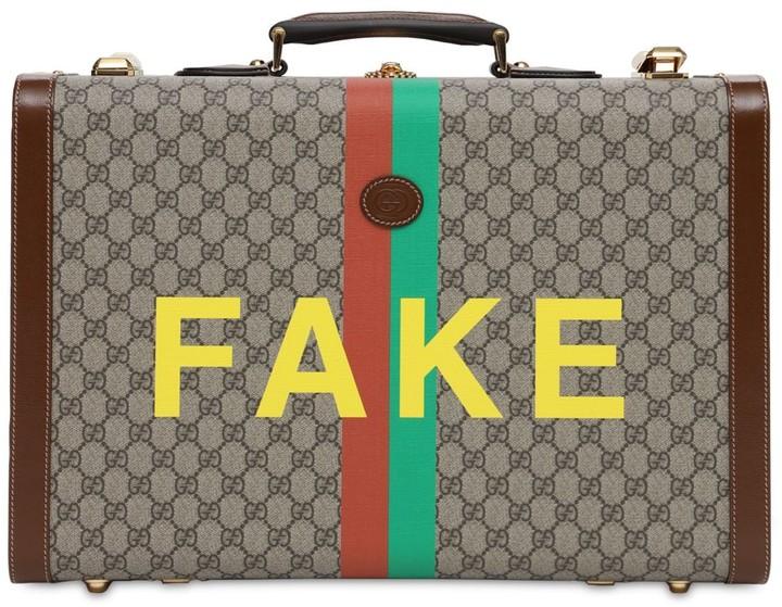 Gucci Gg Supreme Fake Not Printed Suitcase