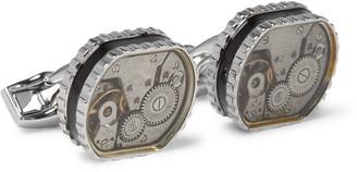 Tateossian Gear Silver-Tone Cufflinks