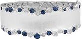 Effy Jewelry Effy 925 Sterling Silver Blue Sapphire and Diamond Bangle, 1.29 TCW