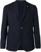 Tagliatore hat pin classic blazer - men - Virgin Wool/Mohair/Silk/Cupro - 46