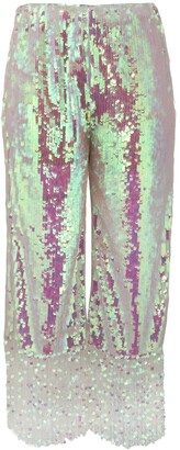 Circus Hotel Iridescent cropped trousers