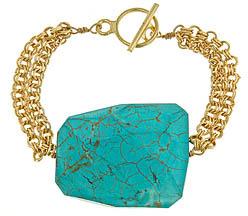 Frolick Tuquoise Quartz Nugget Bracelet