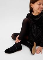 MANGO Velvet ballerinas black - 9A - Kids