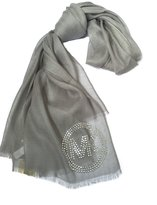 Michael Kors Lightweight Viscose Scarf with Silver Stud Logo
