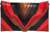 Elena Ghisellini Selina Color Block Leather Clutch