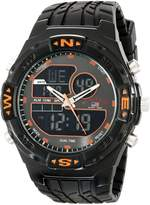 U.S. Polo Assn. Men's Analog-Digital Dial Rubber Strap Watch US9059