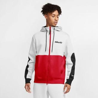 Nike Air Zip-Up Logo Cotton Mix Hoodie