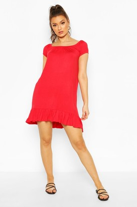 boohoo Cap Sleeve Swing Dress