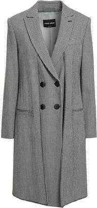 Giorgio Armani Double-breasted Checked Wool-blend Crepe Jacket