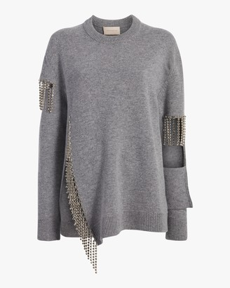 Christopher Kane Cut Out Cup Chain Sweater