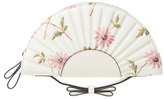 RED Valentino Floral Canvas Fan Clutch