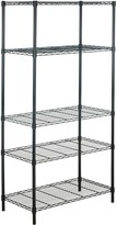 Safavieh Alpha 5-Tier Chrome Wire Shelving