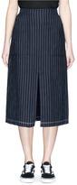 Alexander Wang Stripe slit front raw edge skirt