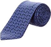 Canali Navy Silk Tie