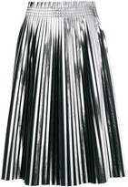 MM6 MAISON MARGIELA pleated metallic skirt