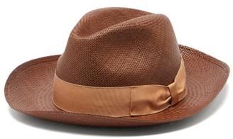 Borsalino Straw Panama Hat - Mens - Brown