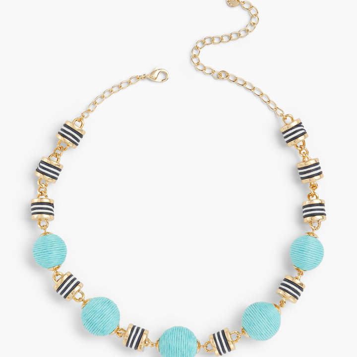 Talbots Blue Thread-Wrapped Necklace