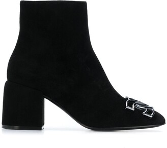 Casadei C-Chain 70mm ankle boots