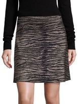A.L.C. Alonso Metallic Tiger-Print Skirt