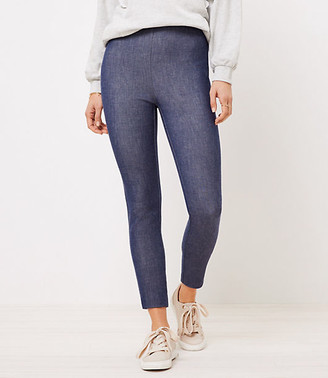LOFT Side Zip High Waist Skinny Pants