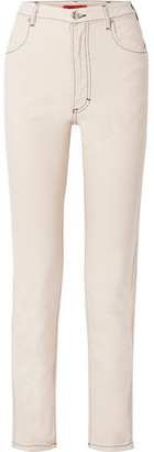Eckhaus Latta El High-rise Straight-leg Jeans - Cream