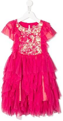 Billieblush Sequin Embroidered Frilled Dress