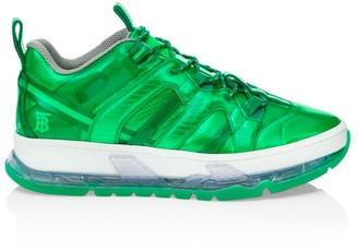Burberry Union Metallic Mixed Media Sneakers