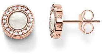 Thomas Sabo Women ear studs Classic pavé white Ear studs 925 Sterling Silver; 18k Rose Gold Plating H1861-435-14