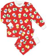 Sara's Prints Boys' Loose Fit Santa Print Pajama Set