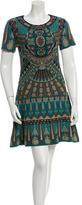Alberta Ferretti Metallic Flare Dress w/ Tags