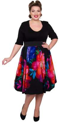 M&Co Scarlett and Jo plus floral 2-in-1 dress