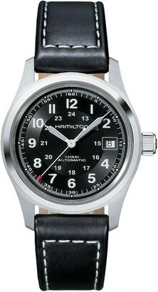 Hamilton Khaki Field Automatic Leather Strap Watch, 38mm