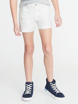 Old Navy Raw-Edged Cuff White Jean Shorts for Girls