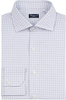 Finamore Men's Checked Cotton Dress Shirt