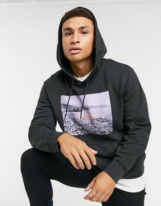 Levi's logo graphic hoodie in black